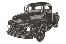1955 Chevrolet 3100 Front-view DXF File