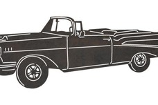 Angled 1957 Chevrolet Bel Air DXF File