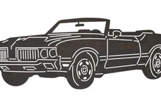 1968 Pontiac GTO Convertible Side-view DXF File