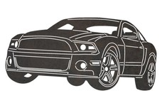 2015 Ford Mustang Front-view DXF File