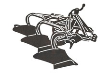 3-Furrow Plough Silhouette DXF File