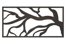 Abstract Tree Railing Insert