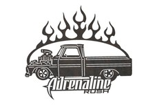 Adrenaline Rush Truck Sign