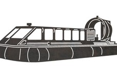 Covered Airboat DXF File