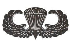 Airborne Parachutist Badge DXF File