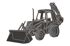 Backhoe Loader DXF File