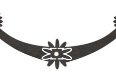Banner with Flowers DXF File