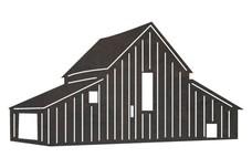 2-Storey Barn DXF File