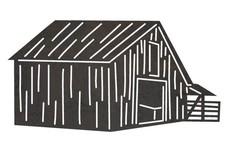 Barn W/Fence DXF File