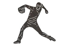 Baseball Player - Throwing_Stance DXF File