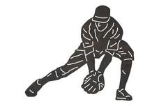 Bending Baseball Player DXF File