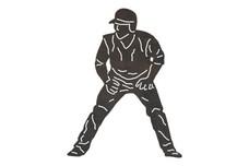 Baseball Player - Run_Ready DXF File