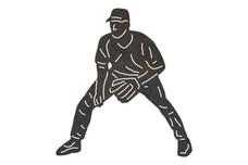 Baseball Player DXF File