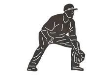 Defensive Baseball Player DXF File