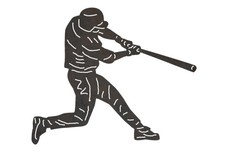 Baseball Player Swinging DXF File