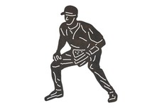Baseball Player - Outfielder_Stance DXF File
