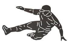 Sliding Baseball Player DXF File