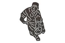 Baseball Player Diving DXF File