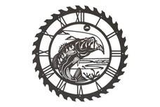 Bass Sawblade Clock