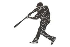 Batter Swinging Hard DXF File