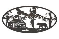 Bear & Cabin Oval Insert