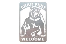Bear Feet Welcome Sign