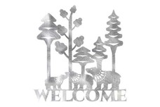 Bear Folk Art Welcome Sign