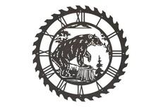 Bear Sawblade Clock