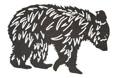 Walking Grizzly Bear DXF File