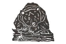 Relaxing Bear DXF File