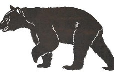 Walking Black Bear DXF File