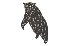 Standing Brown Bear DXF File