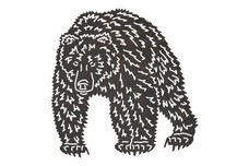 Standing Grizzly Bear DXF File