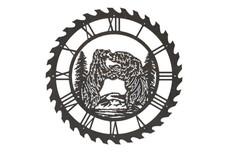 Bears Sawblade Clock