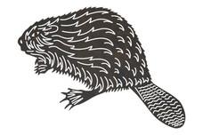 Stylized Beaver DXF File