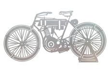Vintage 1903 Motorcycle DXF File