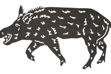 Squealing Boar DXF File