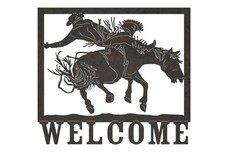 Bronco Welcome Sign