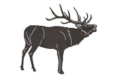 Bellowing Red Buck DXF File
