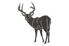 Buck Looking Back DXF File