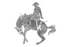 Bucking Horse Stock Art