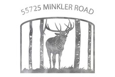 Bugling Elk Address Sign