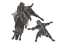 Bull Riding DXF File