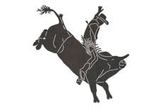 Bull Riding Cowboy DXF File