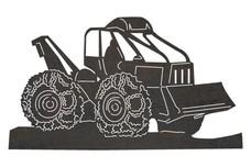 Bulldozer Excavator Front View DXF File