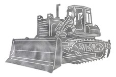 Bulldozer Side-view DXF File