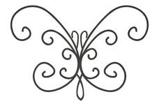 Curling Butterfly Garden Art