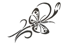 Curly Butterfly DXF File