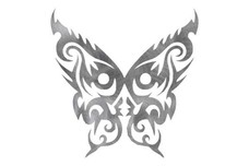 Tribal Butterfly Design DXF File