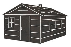 Wooden Cabin DXF File
